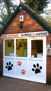 Home Cottage Kennels reception area